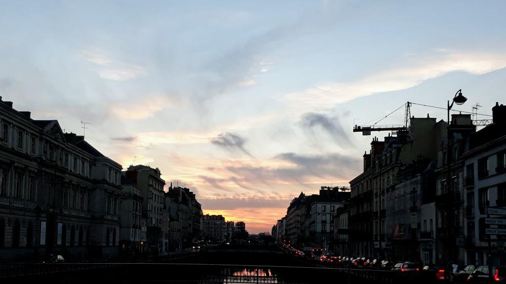 Sonnenuntergang über der Vilaine
