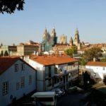 Blick auf die Kathedrale von Santigao de Compostela vom Parque da Alameda