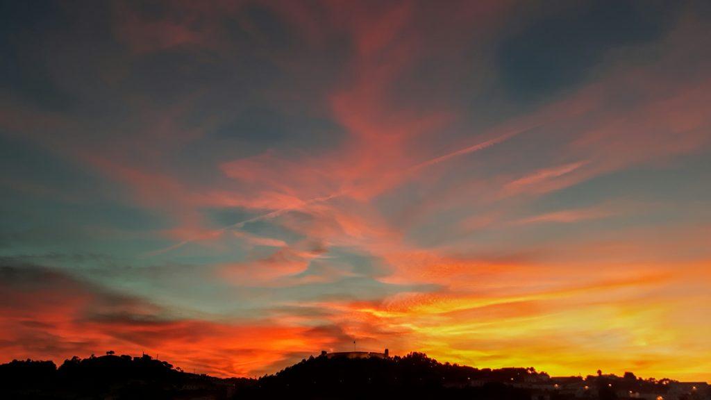 Aljezur bei Sonnenuntergang