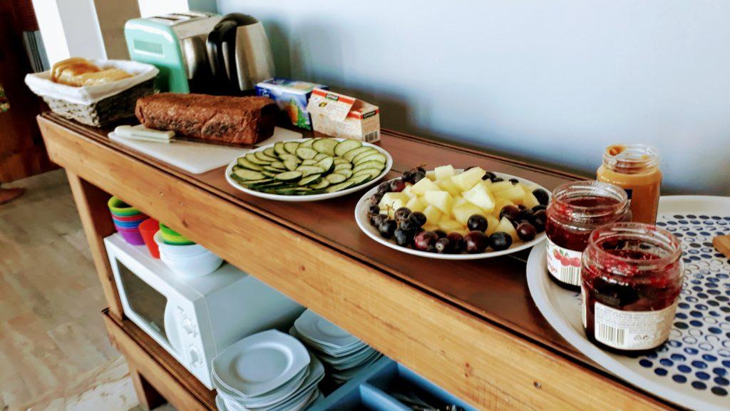 Frühstück in der Atlantic Lodge