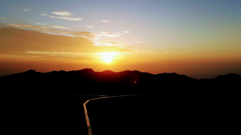 Sonnenaufgang beim Roque de los Muchachos