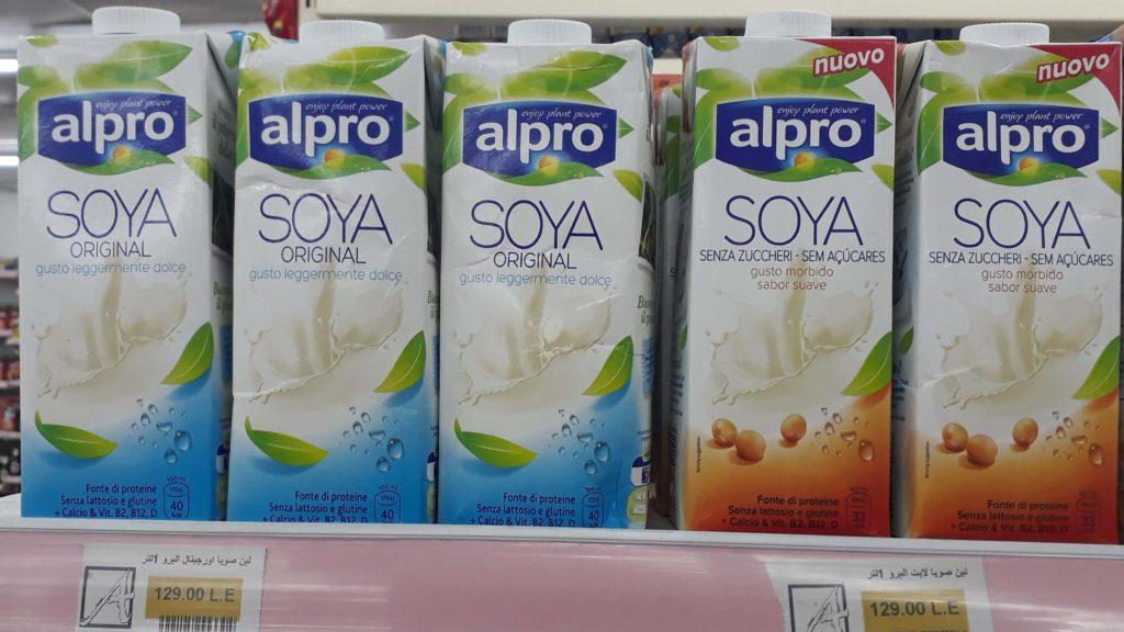 Alpro-Sojamilch im Alfa Market