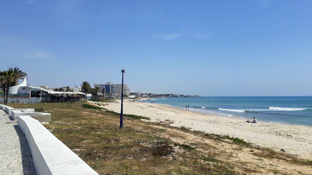 Strand der Zone Touristique Hammamet Nord