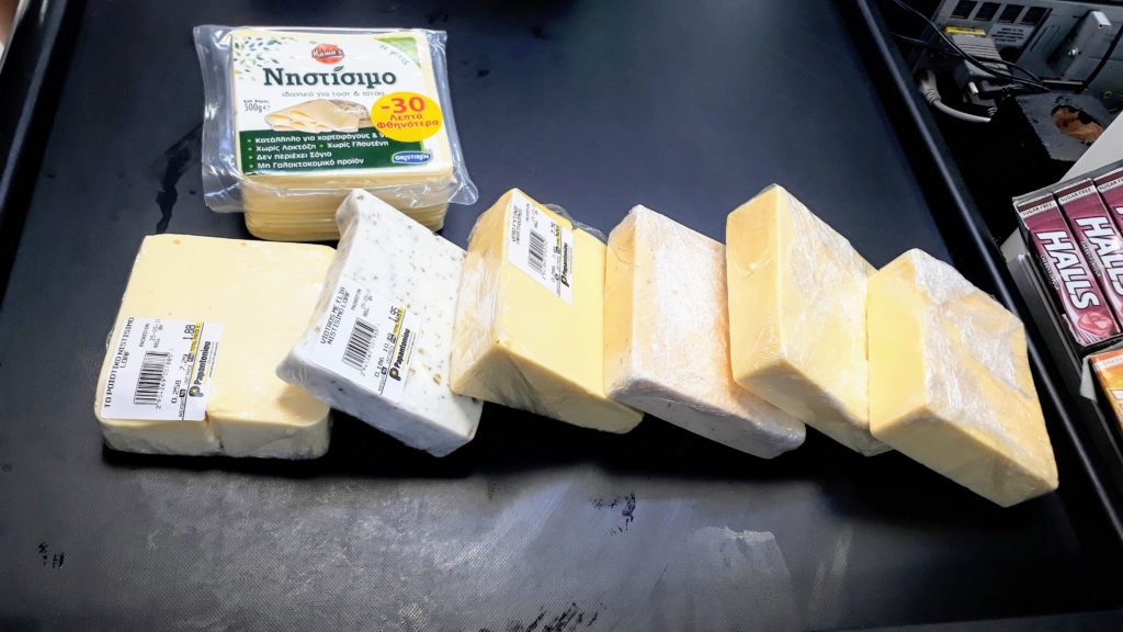 Unserer Ausbeute für den ultimativen veganen Käsevergleich