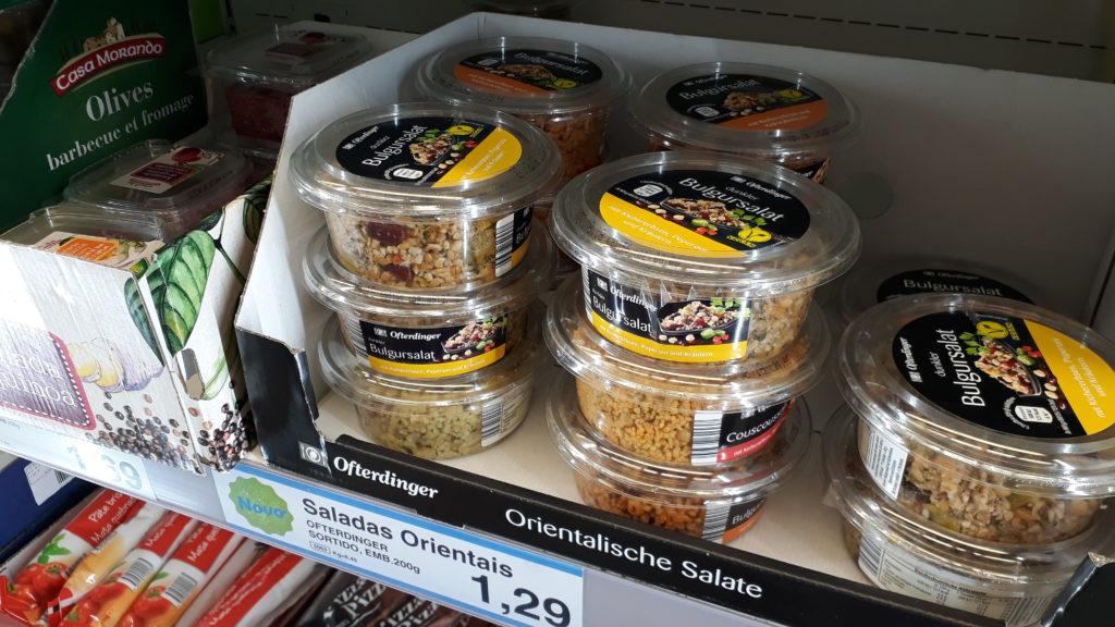 Orientalische Salate, verschiedene Sorten