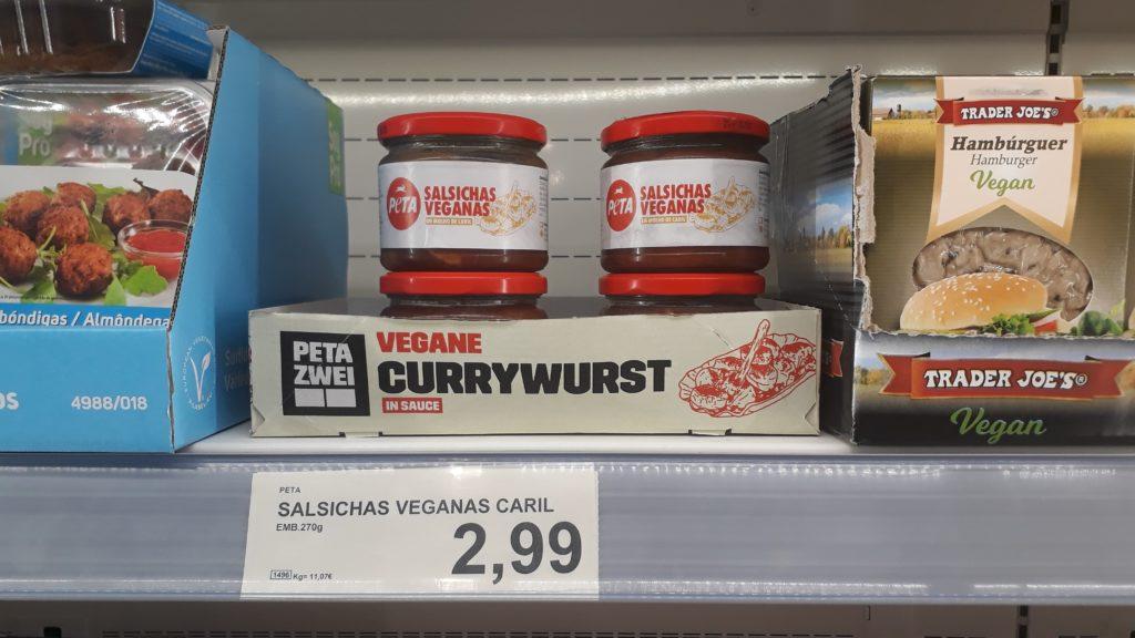 Vegane Currywurst im Glas von peta2