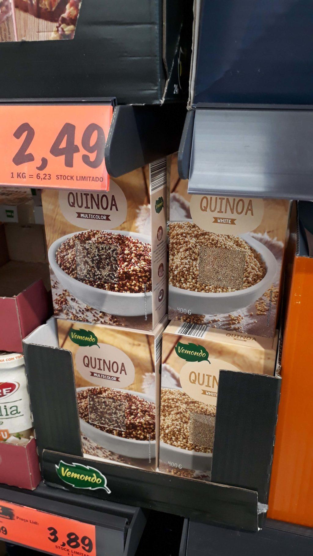 Quinoa, weiß oder bunt