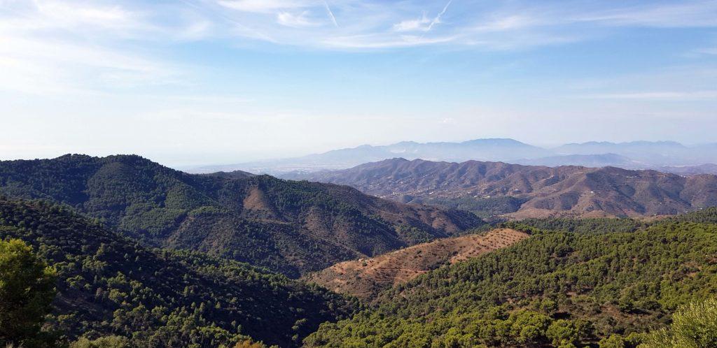 Blick über die Montes de Málaga