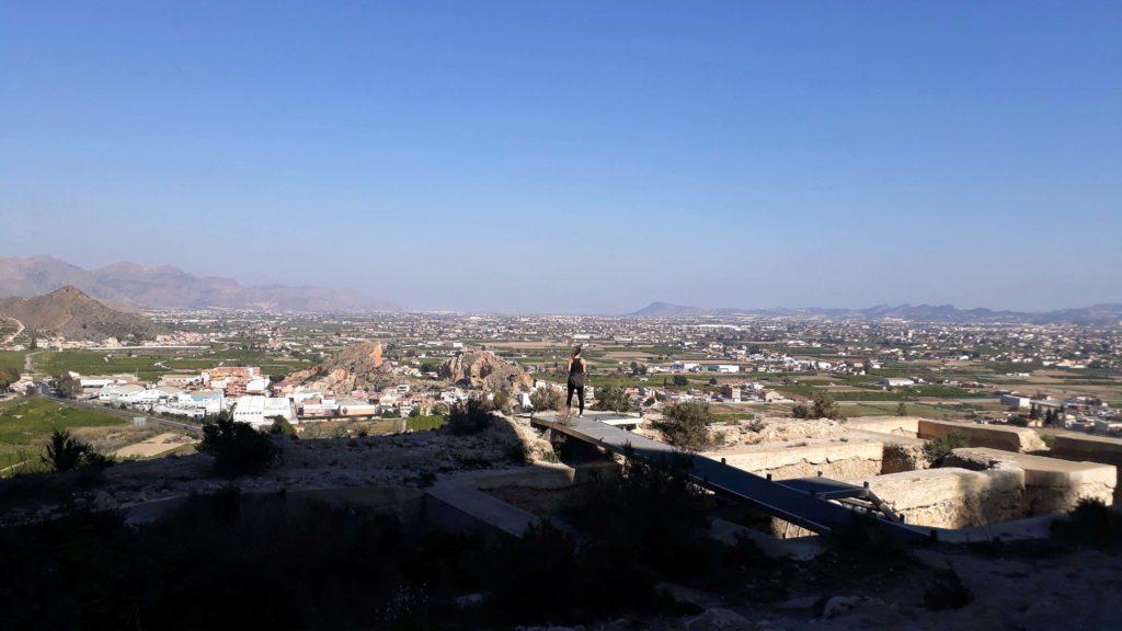 Blick über die Umgebung Murcias vom Castillo de Monteagudo