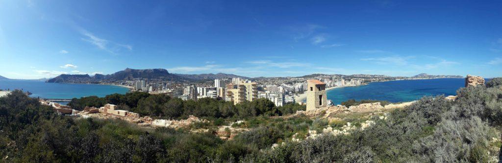 Blick auf die Ausgrabungsstätte desPobla Medieval d'Ifac