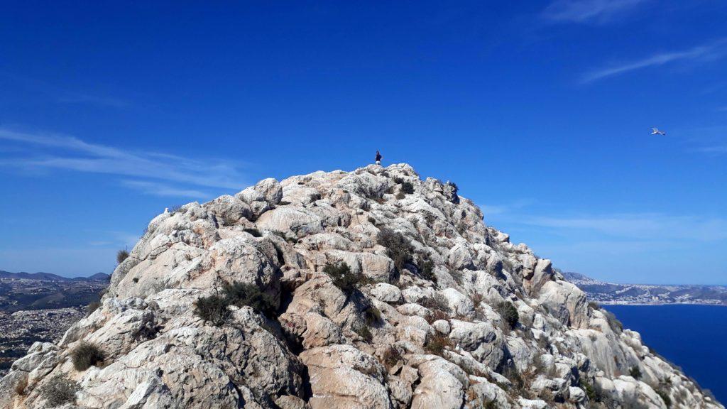Geschafft! Ganz oben auf dem Gipfel des Penyal d'Ifac