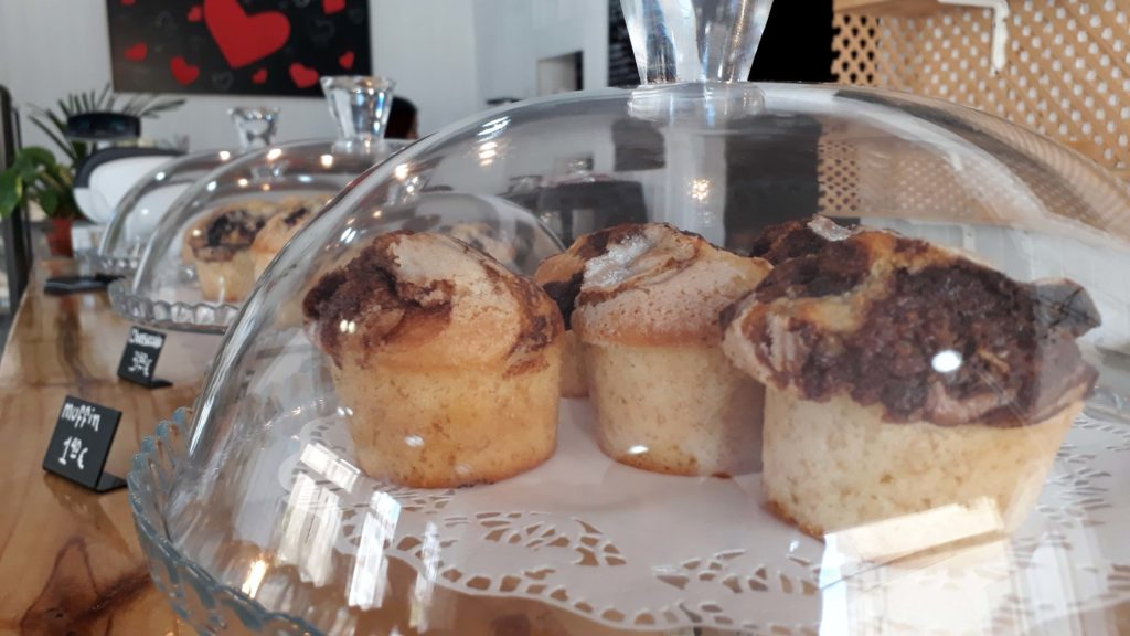 Vegane Muffins im Tablespoon Bakery Cafe in Inca, Mallorca