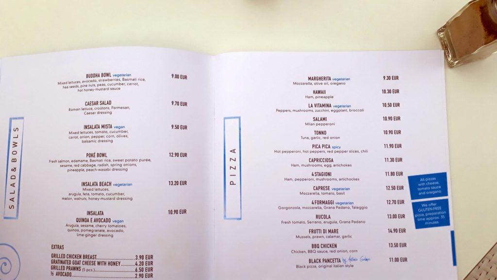 Vegane Optionen bei Pasta Pasta in Cala Ratjada, Mallorca