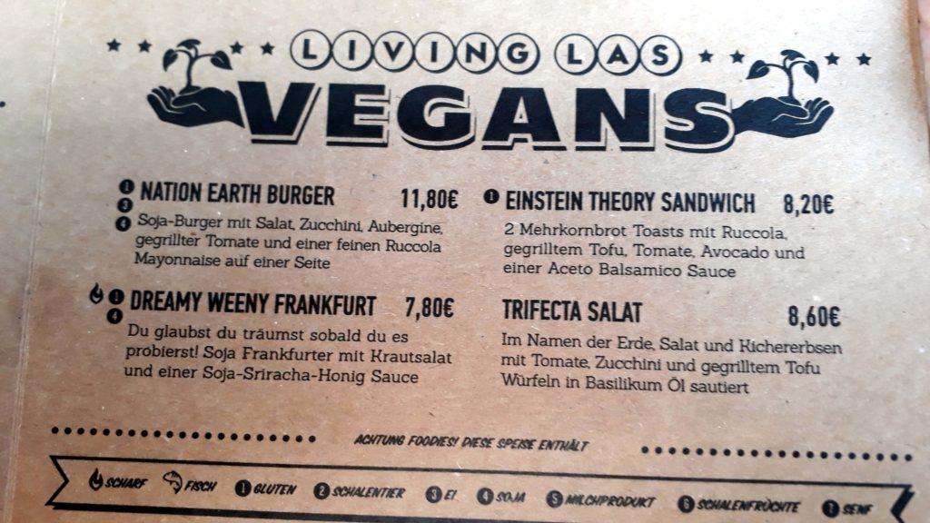 Vegane Optionen bei Dimmock's Healthy Burger auf Mallorca