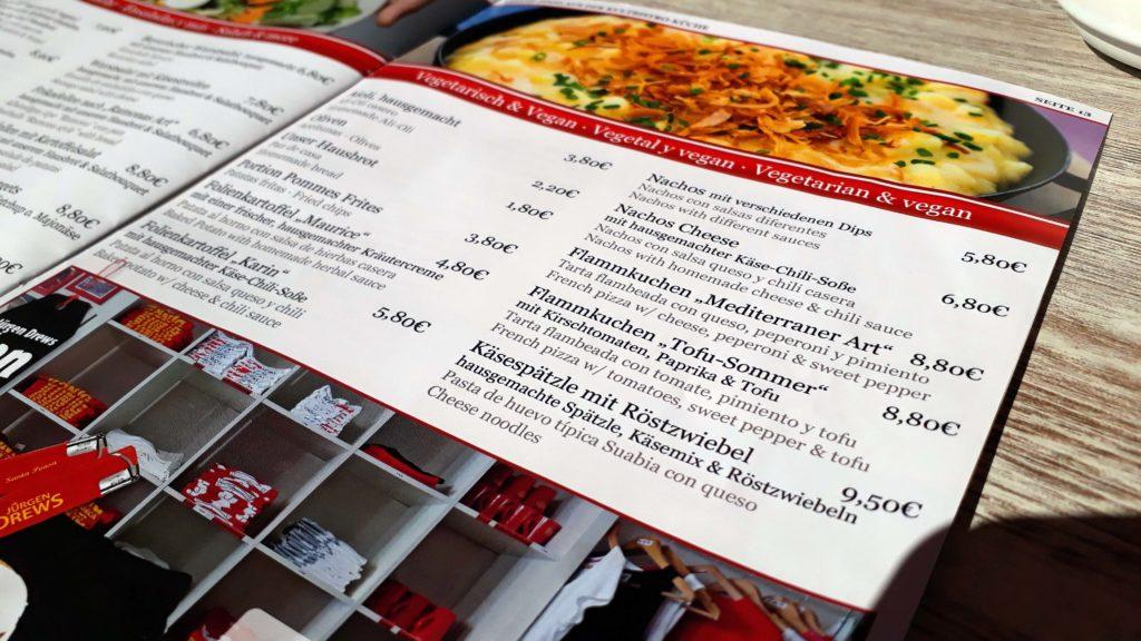 """Vegane und vegetarische Optionen im Kultbistro """"König von Mallorca"""" von Jürgen Drews"""