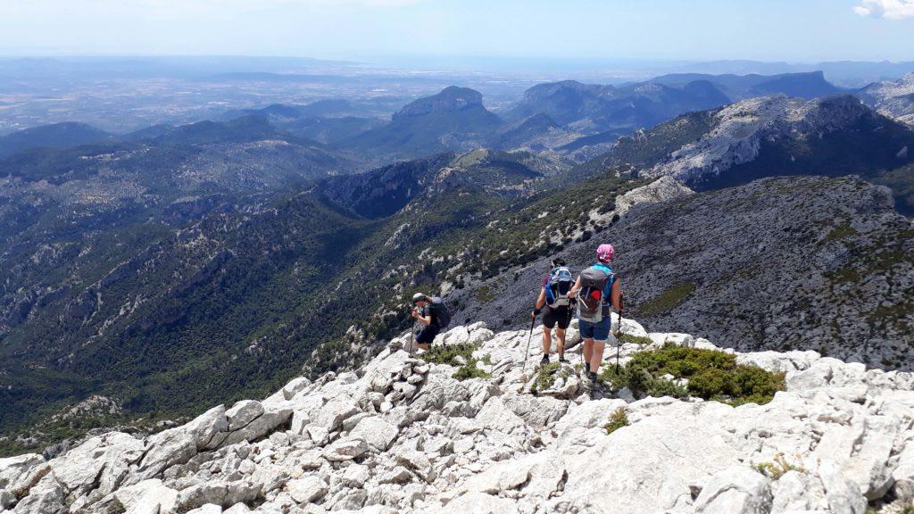 Man kann den Puig de Massanella so besteigen...