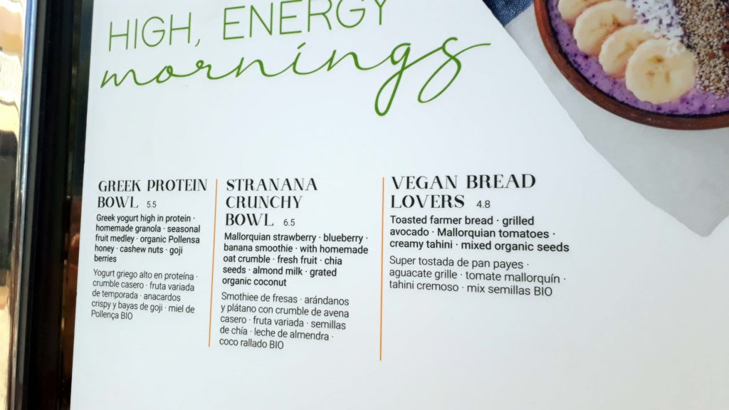 Vegane Optionen bei Marina Brasserie & Cocktails in Port de Pollença, Mallorca