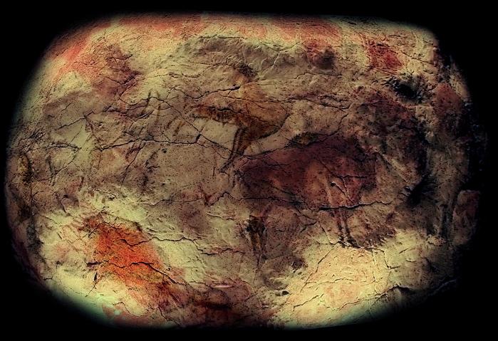 Nachbildung der Decke der Höhle von Altamira im Museo Arqueológico Nacional de España