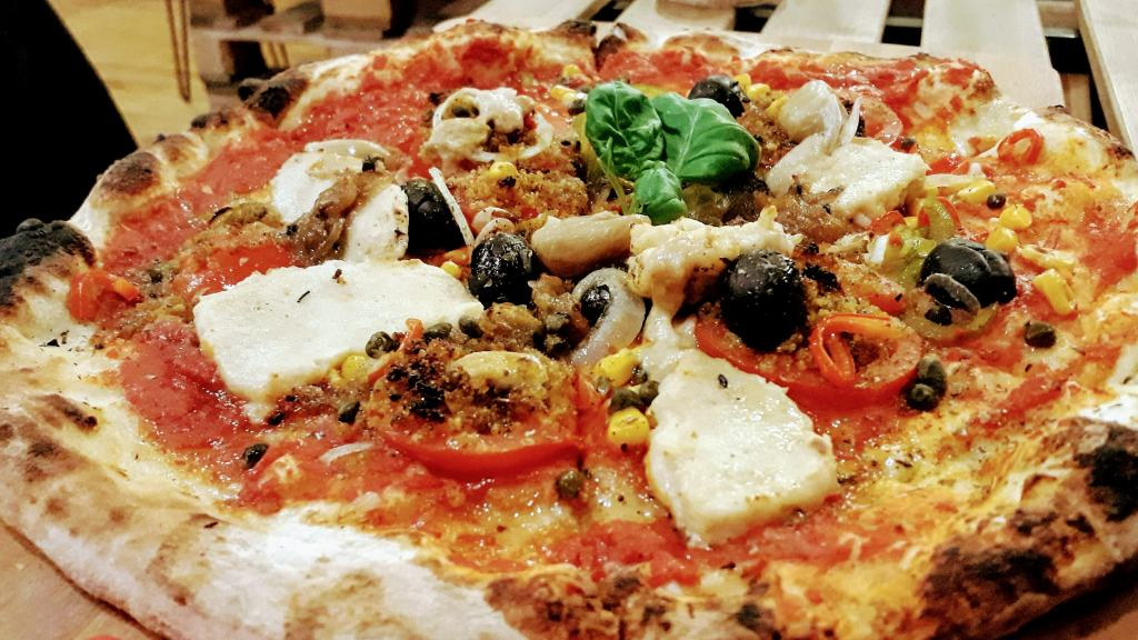 Vegane Pizza bei Bancale 61