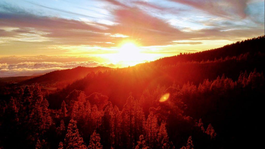 """Sonnenuntergang auf der Wanderung zur """"Mondlandschaft"""" Paisaje Lunar"""