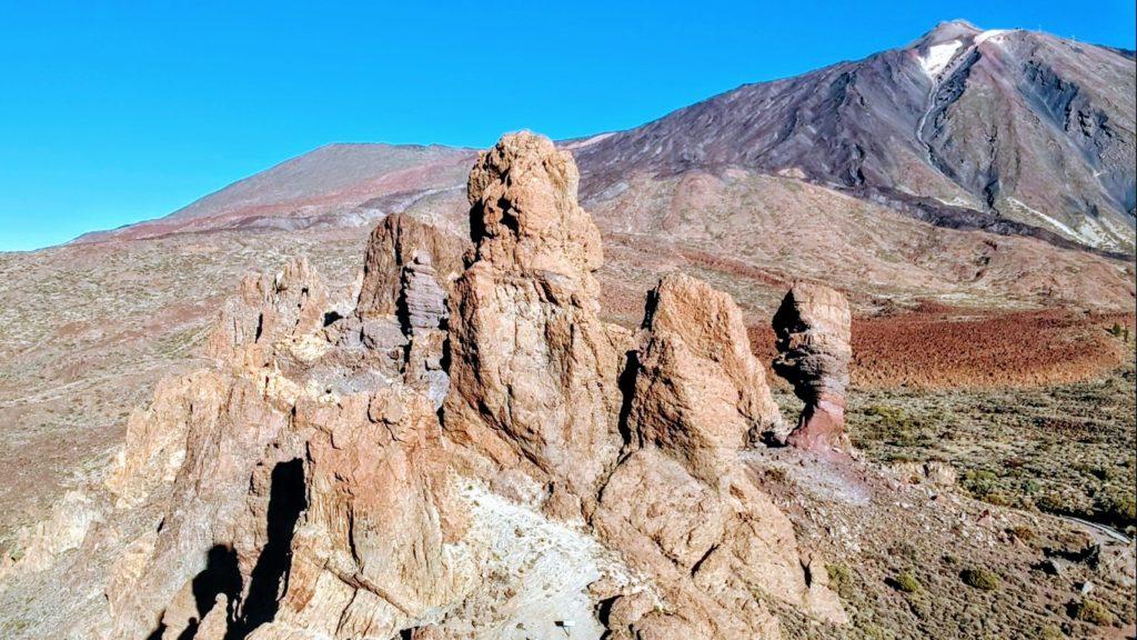 Roques de García mit Teide im Hintergrund