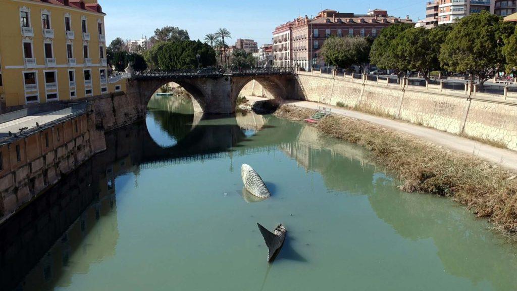 Die Puente de los Peligros über den Río Segura in Murcia