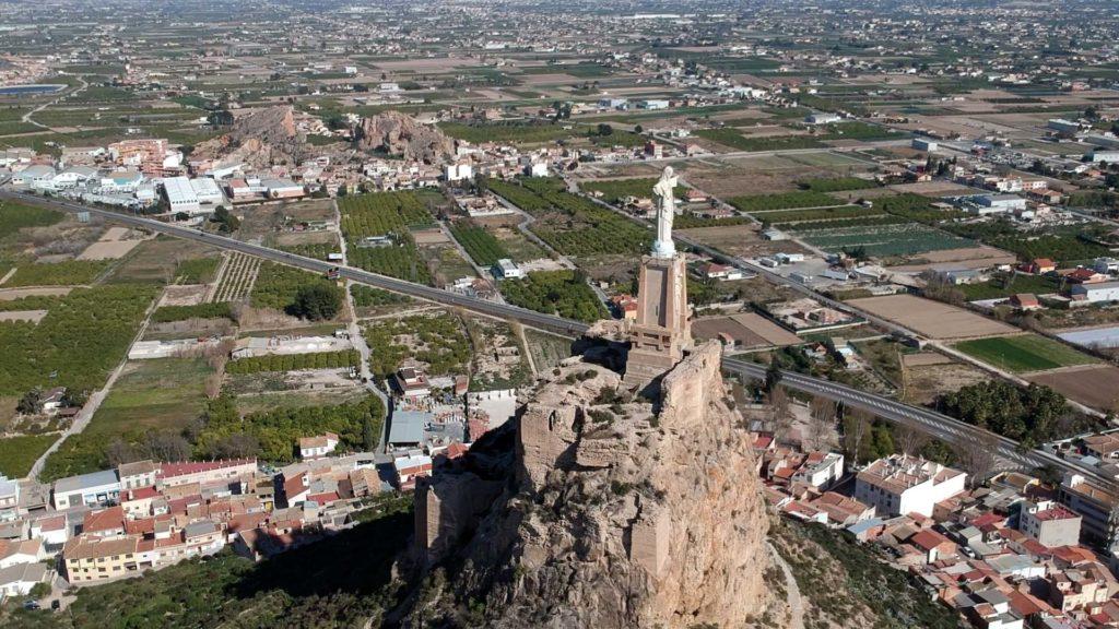 Das Castillo de Monteagudo von oben