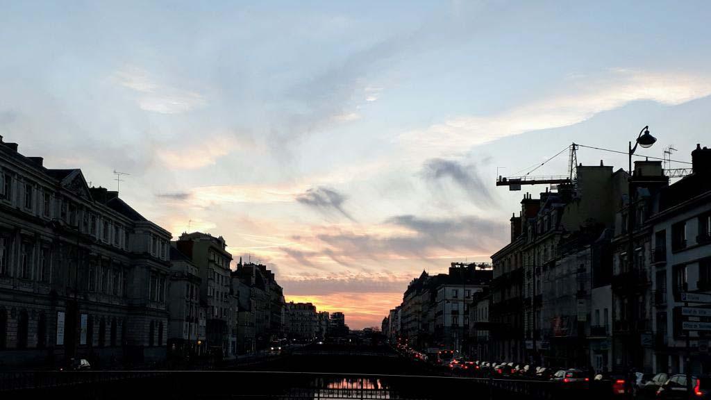 Sunset over the Vilaine