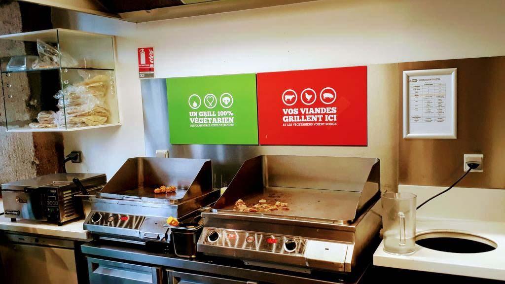 Again, separate grills