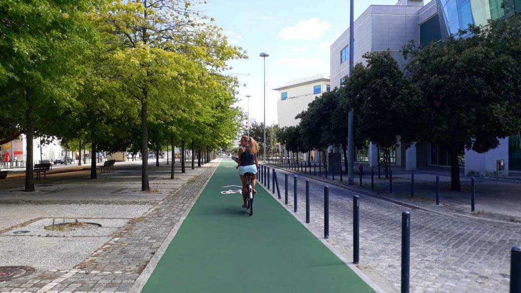 Bike path in the Parque das Nações