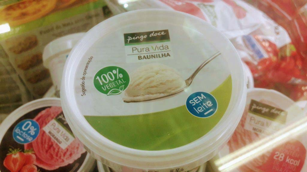 Vegan vanilla ice cream from Pingo Doce