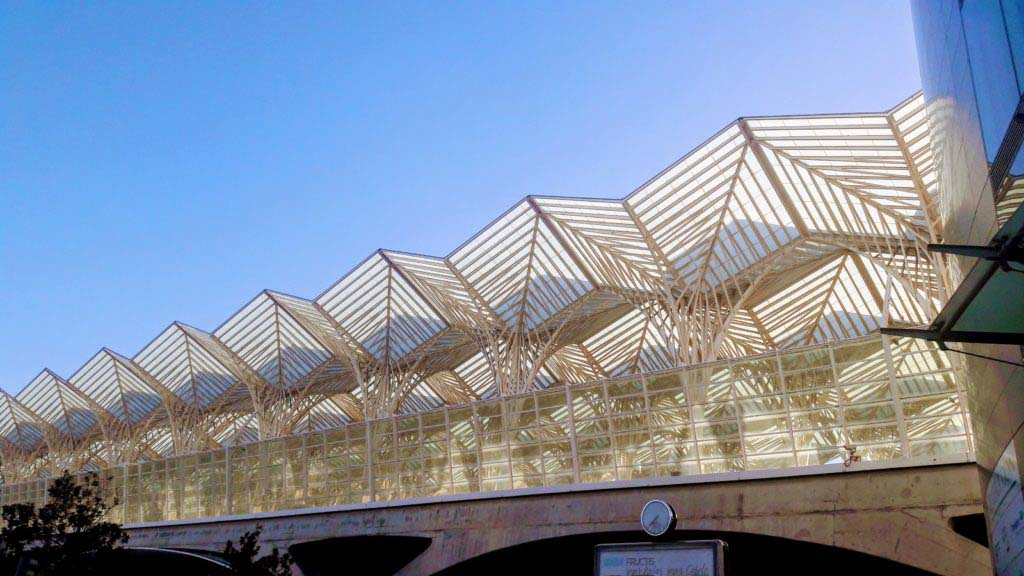 Glass roof of the Estação do Oriente