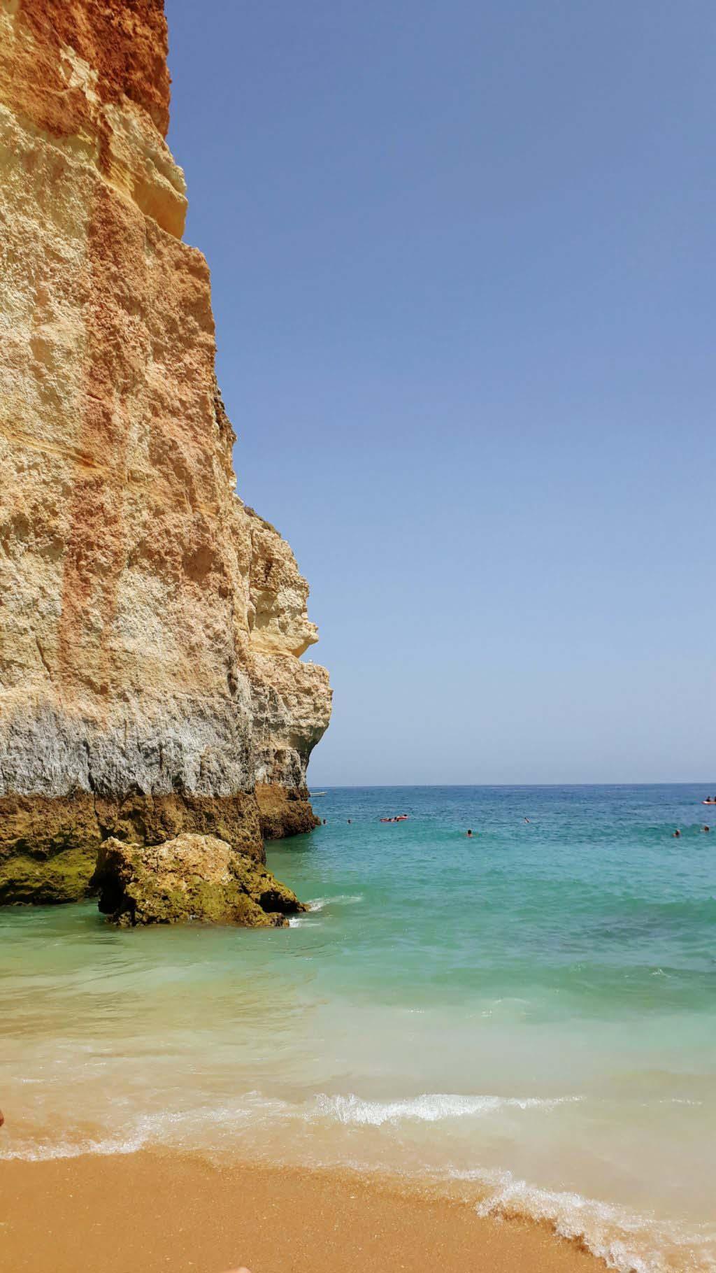 Behind this rock hides the Benagil Cave