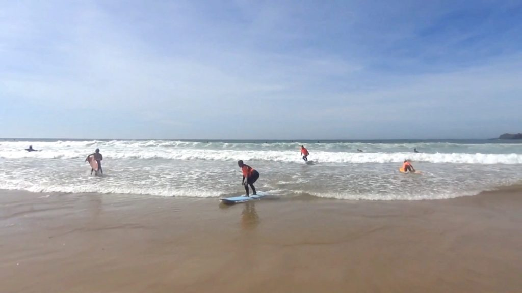 Bigger and smaller successes while learning surfing