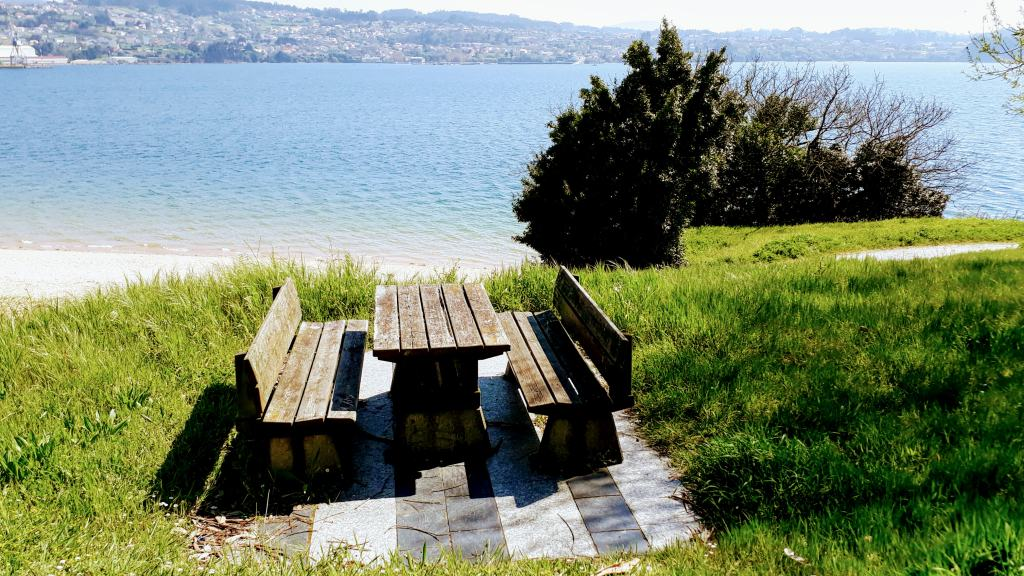 Picnic table with beautiful view