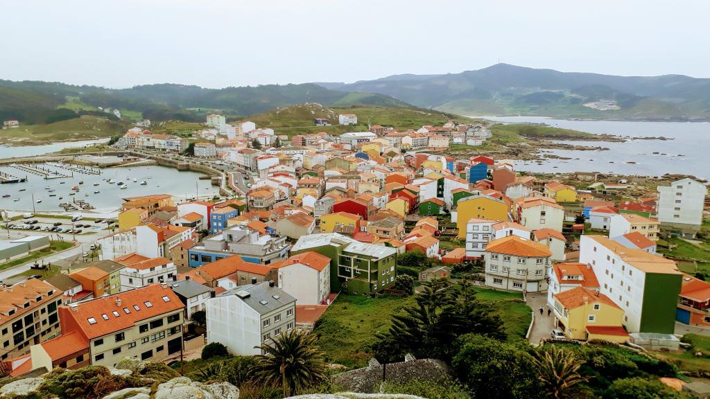 View from Monte Corpiño to Muxía