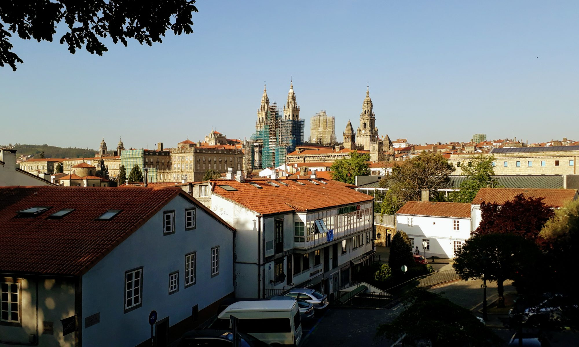 View of the Cathedral of Santiago de Compostela from the Parque da Alameda