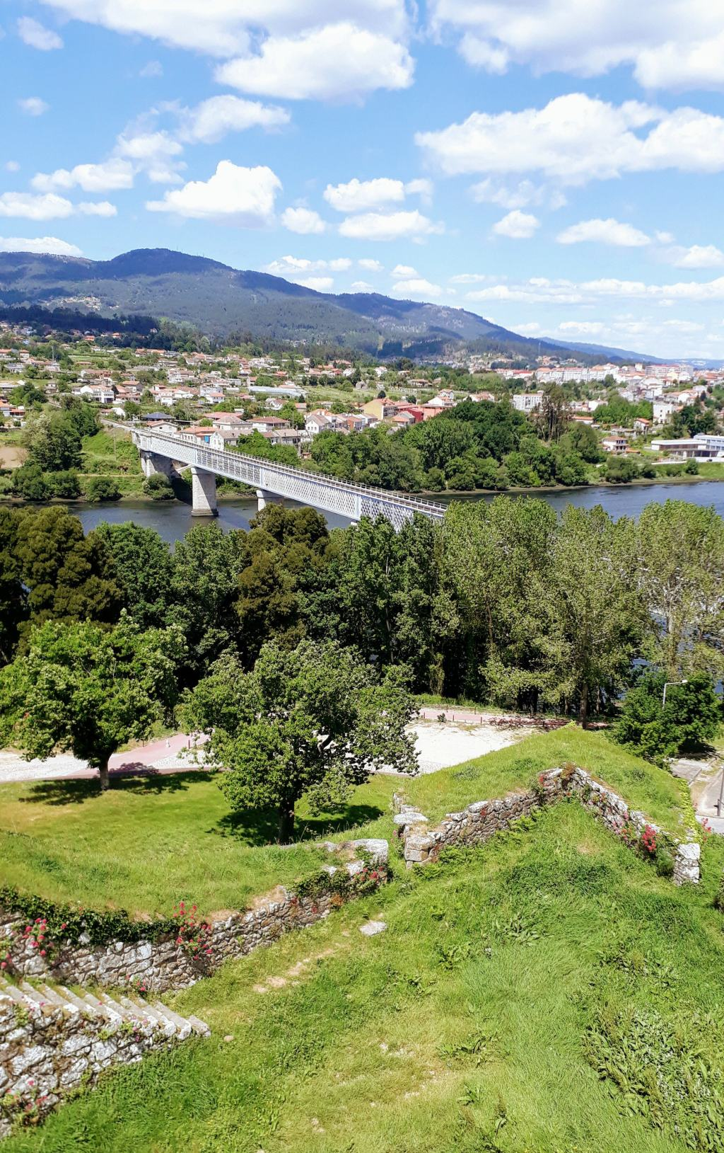 Magnificent view of the Ponte Internacional from Valença