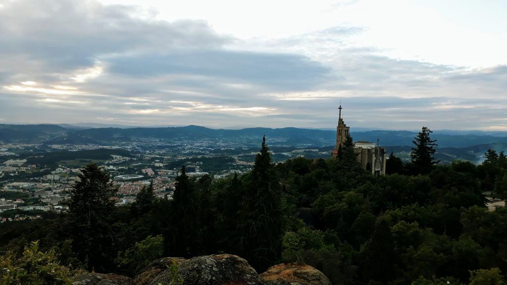 View of the Santuário da Penha from the Serra da Penha or Monte de Santa Catarina