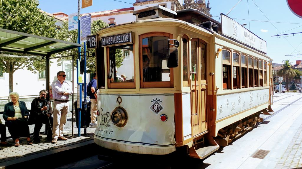 Heritage tram line 18 - one of the three remaining routes that are operated exclusively with historical wagons