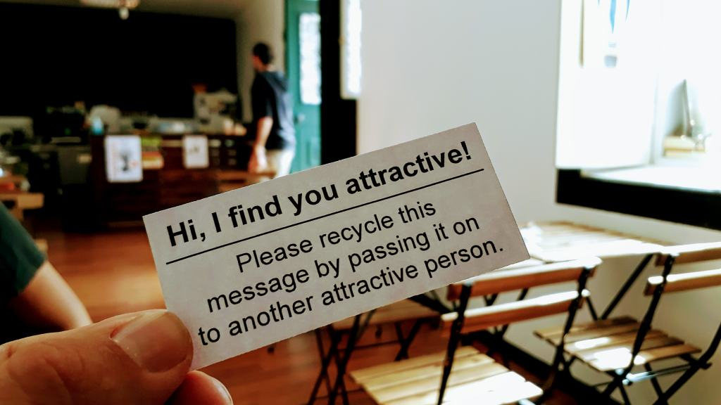 We hereby pass this message on to you ;)