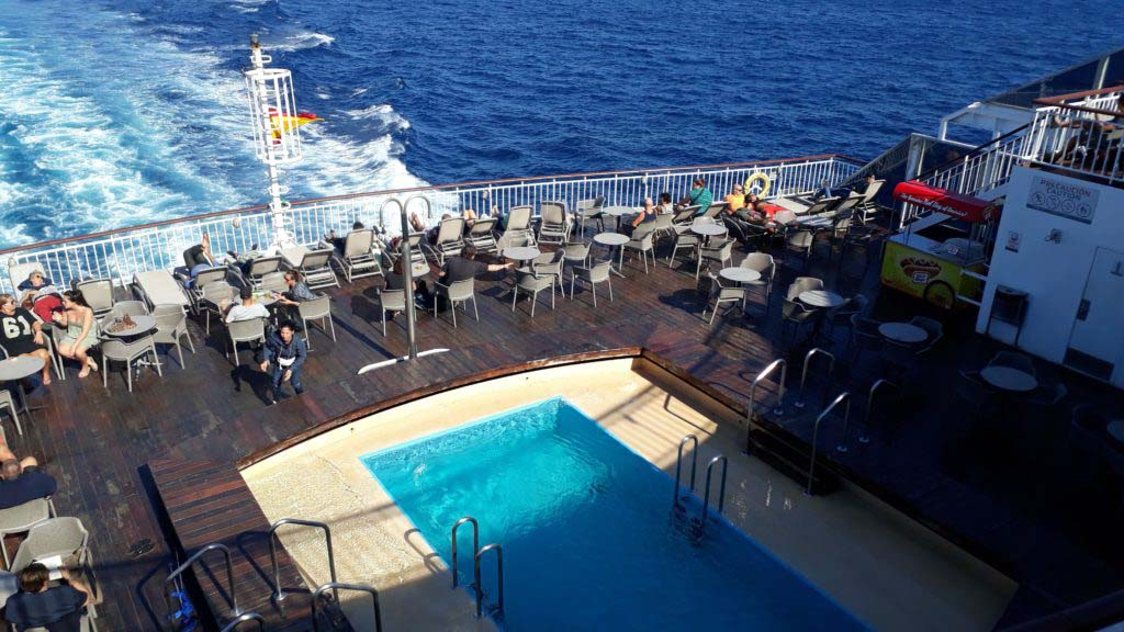 Seawater pool on the ARMAS ship Volcan del Teide