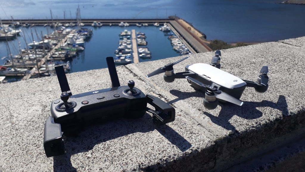DJI Spark and its remote controller