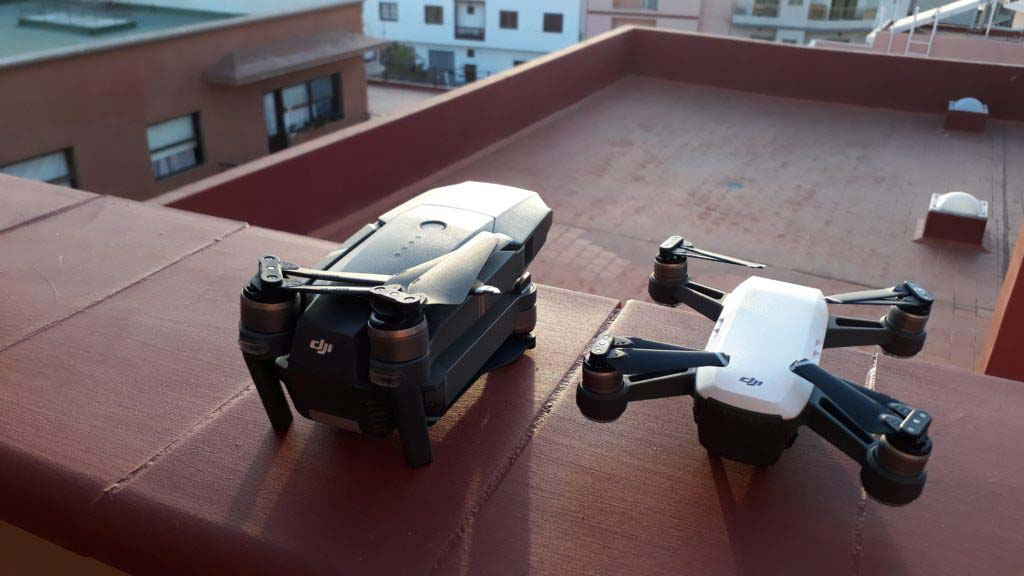 Who's going to do the race: the collapsible DJI Mavic Pro or the compact DJI Spark?