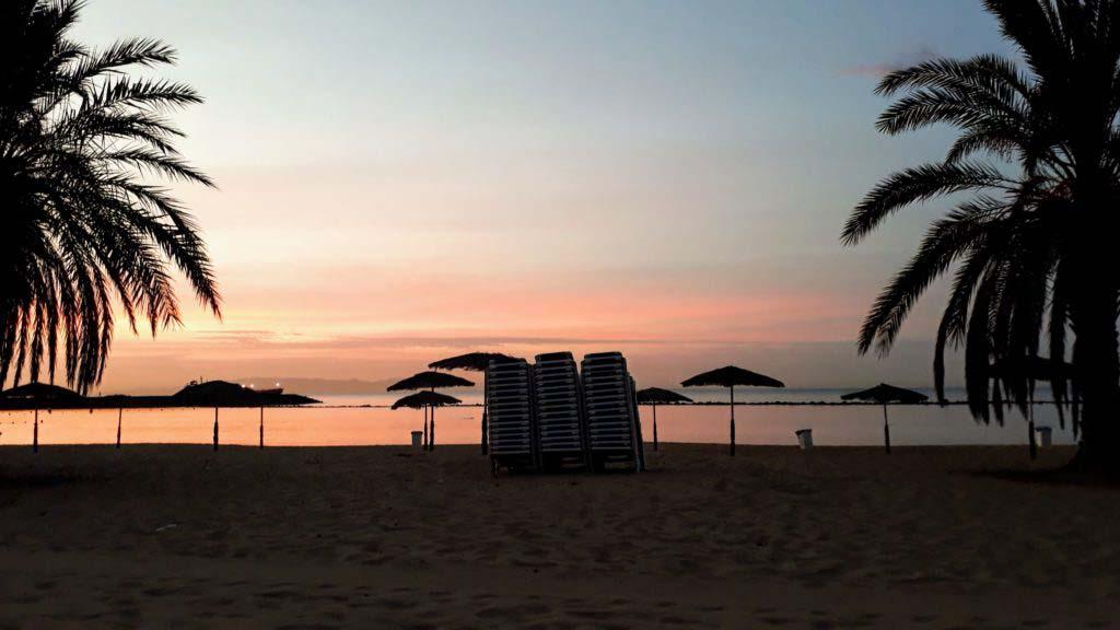 Sunrise at Playa de Las Teresitas near San Andrés