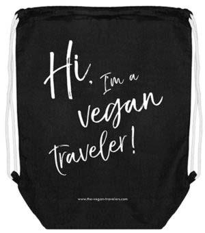"""Gymbag """"Hi, I'm a vegan traveler!"""""""