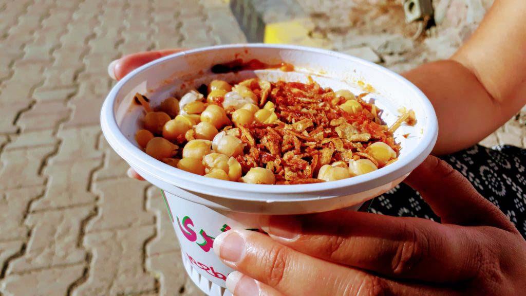 Koshary portion for 28 cents