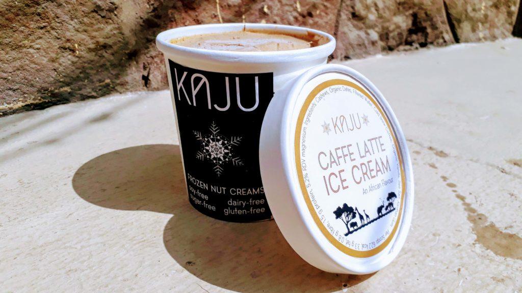 Vegan coffee ice cream on cashew basis of KAJU brand