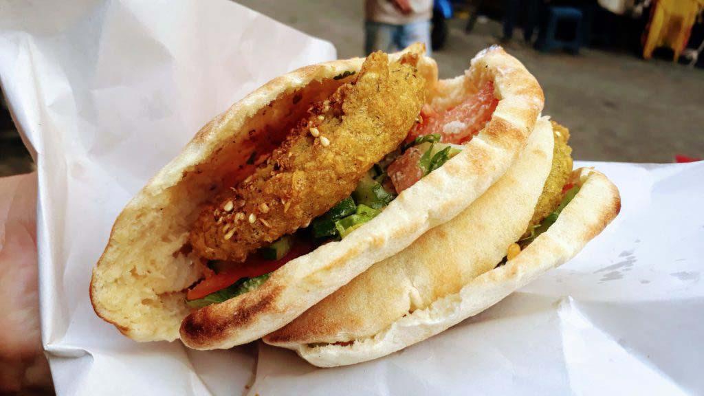 Falafel in flatbread