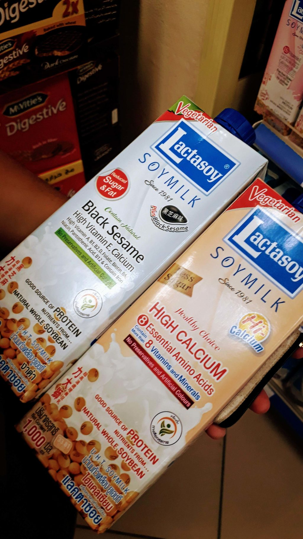 The two vegan soy milk varieties from Lactasoy